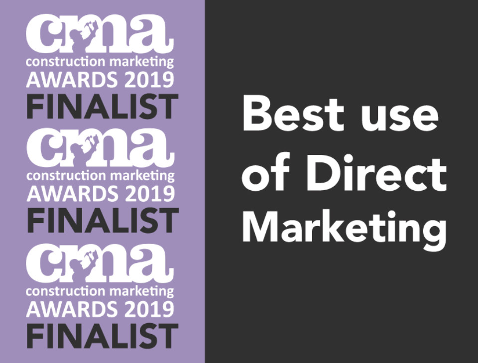 Shortlisted for the 2019 Construction Marketing Awards