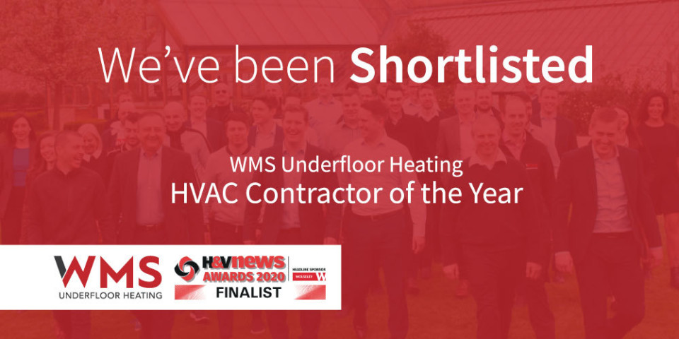 We've been Shortlisted! 'HVAC Contractor of the Year'.