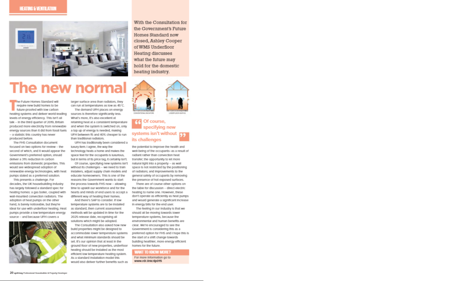 The New Normal - Ashley Talks to Professional Housebuilder and Property Developer Magazine about the upcoming changes in Building Regs